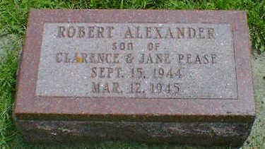 PEASE, ROBERT ALEXANDER - Cerro Gordo County, Iowa   ROBERT ALEXANDER PEASE