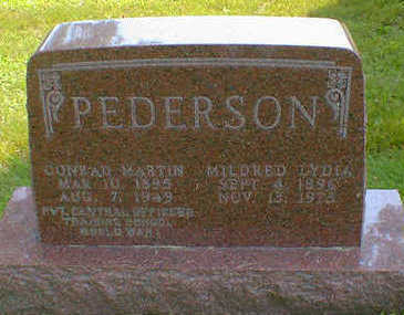 PEDERSON, MILDRED LYDIA - Cerro Gordo County, Iowa | MILDRED LYDIA PEDERSON