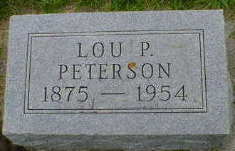 PETERSON, LOU P. - Cerro Gordo County, Iowa | LOU P. PETERSON