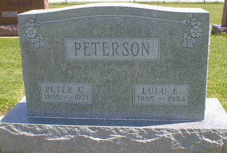 PETERSON, LULU E. - Cerro Gordo County, Iowa | LULU E. PETERSON