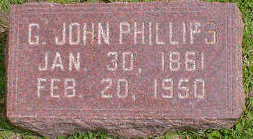 PHILLIPS, G. JOHN - Cerro Gordo County, Iowa | G. JOHN PHILLIPS
