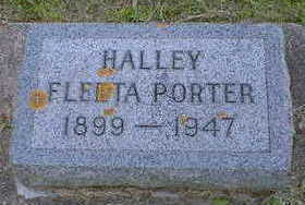 PORTER, HALLEY FLEETA - Cerro Gordo County, Iowa | HALLEY FLEETA PORTER