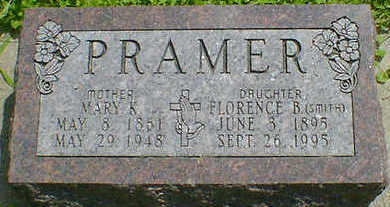 PRAMER, MARY K. - Cerro Gordo County, Iowa | MARY K. PRAMER