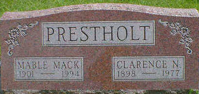 MACK PRESTHOLT, MABLE - Cerro Gordo County, Iowa | MABLE MACK PRESTHOLT