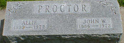 PROCTOR, ALLIE (STEENHARD) - Cerro Gordo County, Iowa | ALLIE (STEENHARD) PROCTOR