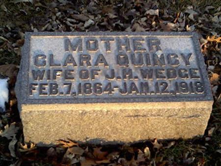 QUINCY, CLARA - Cerro Gordo County, Iowa | CLARA QUINCY