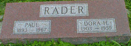 RADER, PAUL - Cerro Gordo County, Iowa | PAUL RADER