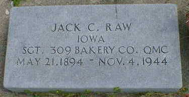 RAW, JACK C. - Cerro Gordo County, Iowa | JACK C. RAW
