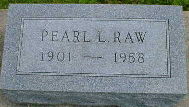RAW, PEARL L. - Cerro Gordo County, Iowa | PEARL L. RAW