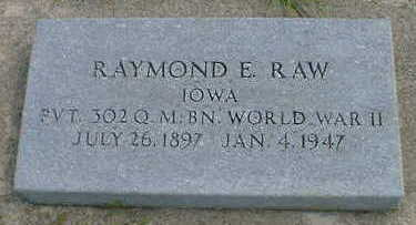 RAW, RAYMOND E. - Cerro Gordo County, Iowa | RAYMOND E. RAW