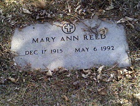 REED, MARY ANN - Cerro Gordo County, Iowa | MARY ANN REED
