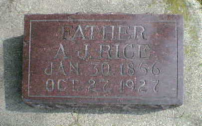 RICE, A. J. - Cerro Gordo County, Iowa | A. J. RICE