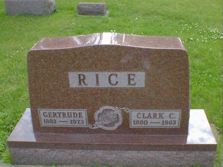 RICE, CLARK C. - Cerro Gordo County, Iowa | CLARK C. RICE