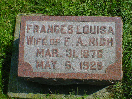 RICH, FRANCES LOUISA - Cerro Gordo County, Iowa | FRANCES LOUISA RICH