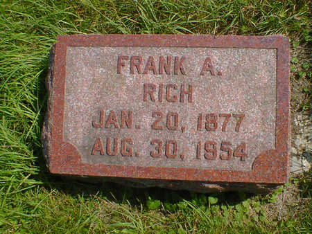 RICH, FRANK A. - Cerro Gordo County, Iowa | FRANK A. RICH