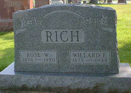 RICH, ROSE W. - Cerro Gordo County, Iowa | ROSE W. RICH