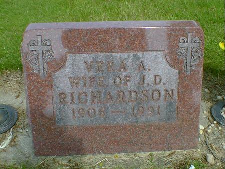 RICHARDSON, VERA A. - Cerro Gordo County, Iowa | VERA A. RICHARDSON