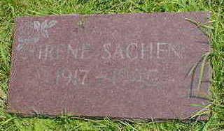 SACHEN, IRENE - Cerro Gordo County, Iowa | IRENE SACHEN