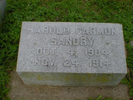 SANDRY, HAROLD OARMAN - Cerro Gordo County, Iowa | HAROLD OARMAN SANDRY