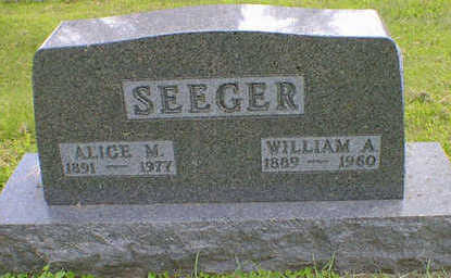 SEEGER, WILLIAM A. - Cerro Gordo County, Iowa | WILLIAM A. SEEGER