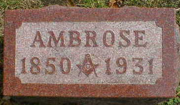 SHERMAN, AMBROSE - Cerro Gordo County, Iowa | AMBROSE SHERMAN