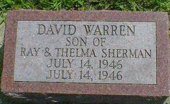 SHERMAN, DAVID WARREN - Cerro Gordo County, Iowa   DAVID WARREN SHERMAN