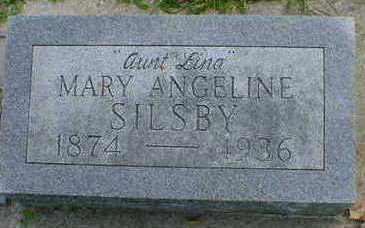 SILSBY, MARY ANGELINE - Cerro Gordo County, Iowa | MARY ANGELINE SILSBY