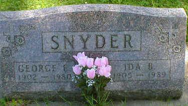 SNYDER, IDA B. (HOFFMAN) - Cerro Gordo County, Iowa | IDA B. (HOFFMAN) SNYDER