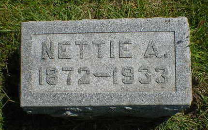 STANFIELD, NETTIE A. - Cerro Gordo County, Iowa | NETTIE A. STANFIELD