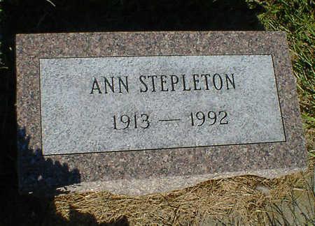 STEPLETON, ANN - Cerro Gordo County, Iowa   ANN STEPLETON