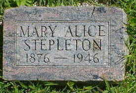 STEPLETON, MARY ALICE - Cerro Gordo County, Iowa | MARY ALICE STEPLETON