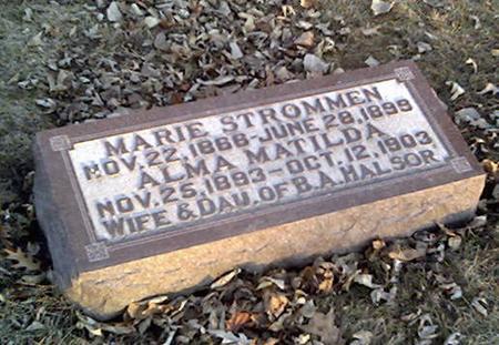 HALSOR, ALMA MATILDA - Cerro Gordo County, Iowa | ALMA MATILDA HALSOR