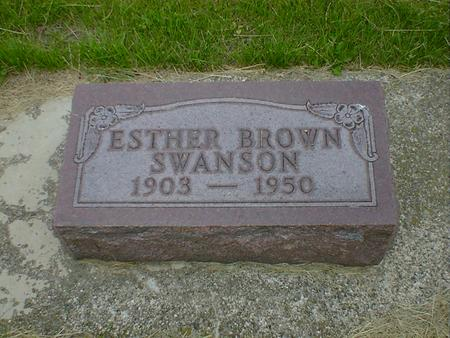 BROWN SWANSON, ESTHER - Cerro Gordo County, Iowa | ESTHER BROWN SWANSON