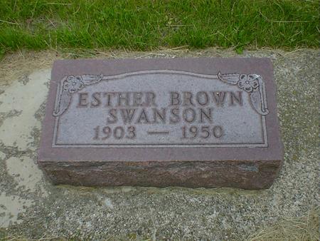 SWANSON, ESTHER - Cerro Gordo County, Iowa   ESTHER SWANSON