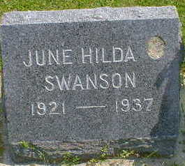 SWANSON, JUNE HILDA - Cerro Gordo County, Iowa | JUNE HILDA SWANSON