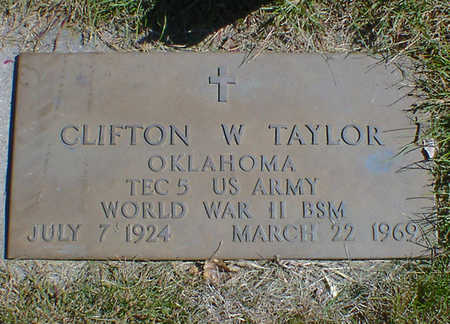 TAYLOR, CLIFTON W. - Cerro Gordo County, Iowa | CLIFTON W. TAYLOR