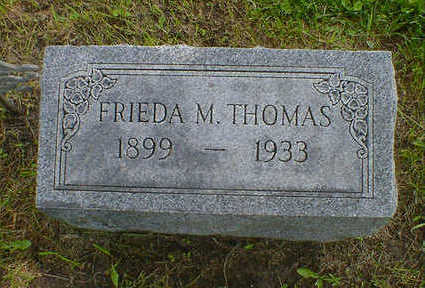 THOMAS, FRIEDA M. - Cerro Gordo County, Iowa | FRIEDA M. THOMAS