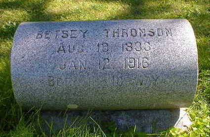 THRONSON, BETSEY - Cerro Gordo County, Iowa | BETSEY THRONSON