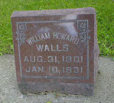 WALLS, WILLIAM HOWARD - Cerro Gordo County, Iowa | WILLIAM HOWARD WALLS