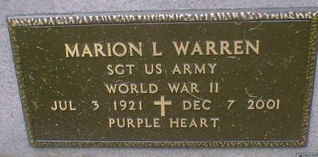 WARREN, MARION L. - Cerro Gordo County, Iowa | MARION L. WARREN