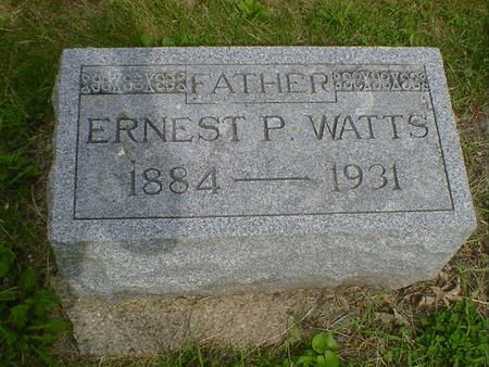 WATTS, ERNEST P. - Cerro Gordo County, Iowa | ERNEST P. WATTS