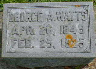 WATTS, GEORGE A. - Cerro Gordo County, Iowa | GEORGE A. WATTS
