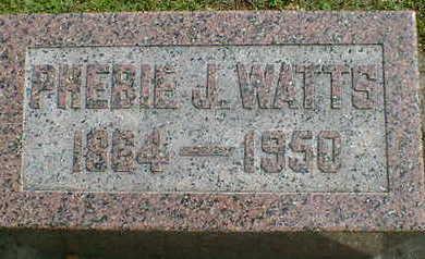 WATTS, PHEBIE J. - Cerro Gordo County, Iowa   PHEBIE J. WATTS