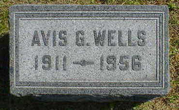 WELLS, AVIS G. - Cerro Gordo County, Iowa | AVIS G. WELLS