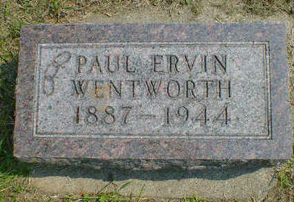 WENTWORTH, PAUL ERVIN - Cerro Gordo County, Iowa | PAUL ERVIN WENTWORTH