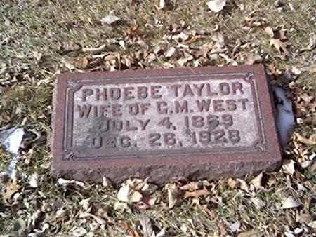 TAYLOR WEST, PHOEBE - Cerro Gordo County, Iowa | PHOEBE TAYLOR WEST