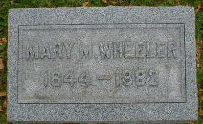 WHEELER, MARY M. - Cerro Gordo County, Iowa | MARY M. WHEELER