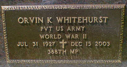 WHITEHURST, ORVIN K. - Cerro Gordo County, Iowa | ORVIN K. WHITEHURST