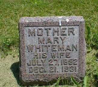 WHITEMAN, MARY - Cerro Gordo County, Iowa   MARY WHITEMAN