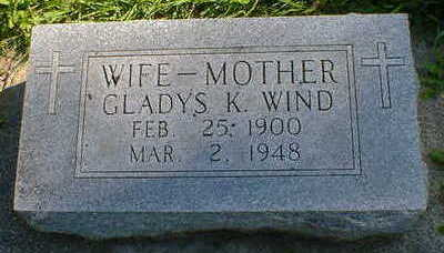 WIND, GLADYS K. - Cerro Gordo County, Iowa | GLADYS K. WIND